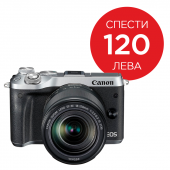 Фотоапарат Canon EOS M6 тяло Silver + Обектив Canon EF-M 18-150mm f/3.5-6.3 IS STM + Адаптер Canon EF-EOS M
