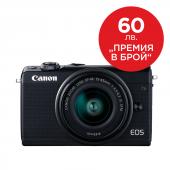 Фотоапарат Canon EOS M100 тяло + Обектив Canon EF-M 15-45mm f/3.5-6.3 IS STM Черен + Canon Connect Station CS100