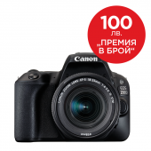 Фотоапарат Canon EOS 200D Black тяло + Обектив Canon EF-S 18-55mm f3.5-5.6 IS STM