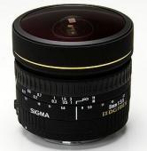 Обектив Sigma 8mm f/3.5 EX DG fisheye circular за Nikon