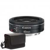 Обектив Canon EF 40mm f/2.8 STM + Фоточанта Canon Shoulder Bag SB100