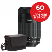 Обектив Canon EF-S 55-250mm f/4-5.6 IS STM + Фоточанта Canon Shoulder Bag SB100