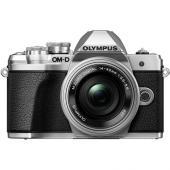 Фотоапарат Olympus OM-D E-M10 Mark III Silver тяло + Обектив Olympus M.Zuiko Digital ED 14-42mm f/3.5-5.6 EZ + Раница Lowepro Travel BP 18L