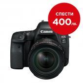 Фотоапарат Canon EOS 6D Mark II тяло + Обектив Canon EF 24-70mm f/4L IS USM + Батерия Li-Ion Canon LP-E6N