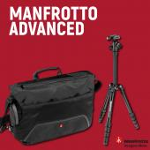 Фоточанта Manfrotto Advanced Befree Messenger - Черно + статив Manfrotto Element Small