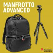 Фотораница Manfrotto Advanced Active II Black + статив Manfrotto Elements Small