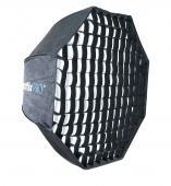 Осмоъгълен софтбокс чадър с грид Phottix Pro Easy Up 120cm