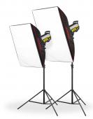 Комплект студийно осветление Speedster QT II 2x600
