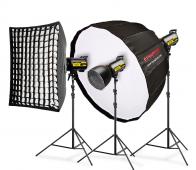 Комплект студийно осветление Speedster QT II 3x600 Premium - за Sony