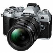 Фотоапарат Olympus OM-D E-M5 Mark III Silver + обектив Olympus MFT 12-40mm f/2.8 PRO + Обектив Olympus M.Zuiko Digital 45mm f/1.8 Silver + Батерия JUPIO LI-ION (заместител на Olympus BLS5 / BLS50)