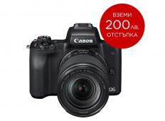 Фотоапарат Canon EOS M50 Black + Обектив Canon EF-M 18-150mm f/3.5-6.3 IS STM + Памет SDHC SanDisk Extreme 32GB UHS-I V30 (U3) 90MB