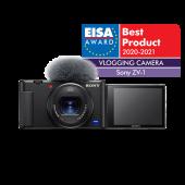 Фотоапарат за влогинг Sony ZV-1 + Батерия Li-Ion Sony NP-BX1 + Памет SDXC SanDisk Ultra 64GB UHS-I U1 C10 100MB/s
