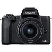 Фотоапарат Canon EOS M50 Mark II Black Тяло + Обектив Canon EF-M 15-45mm f/3.5-6.3 IS STM + Обектив Canon EF-M 55-200mm f/4.5-6.3 IS STM