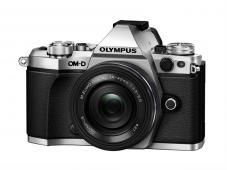 Фотоапарат Olympus OM-D E-M5 Mark II Silver тяло + Обектив Olympus M.Zuiko Digital ED 14-42mm f/3.5-5.6 EZ Black