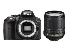 Фотоапарат Nikon D5300 Black тяло + Обектив Nikon AF-S DX Nikkor 18-105mm f/3.5-5.6G ED VR + Комплект Nikon DSLR Accessory Kit 3in1 (CF-EU11 Bag + EN-EL14a + 16GB SD)