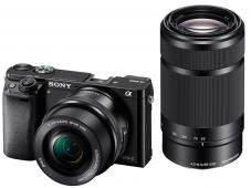 Фотоапарат Sony Alpha A6000 Black Kit (16-50mm OSS + 55-210mm OSS) + Памет SDHC Sony Expert 16GB (Class10)(UHS -I)(94MBs) + Фоточанта Sony LCS-U11/B Black