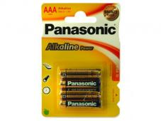 Алкални батерии AAA Panasonic Alkaline Power LR03-4бр.