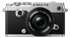 Фотоапарат Olympus PEN-F Kit (Silver) + Обектив M.Zuiko Digital ED 14-42mm 1:3.5-5.6 EZ (Black)
