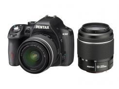 Фотоапарат Pentax K-50 Kit (DAL 18-55mm f/3.5-5.6  WR + DAL 50-200mm f/4-5.6  WR)