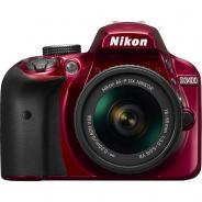 Фотоапарат Nikon D3400 Red тяло + Обектив Nikon AF-P DX Nikkor 18-55mm f/3.5-5.6G VR