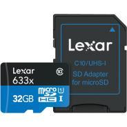 Памет microSDHC Lexar 32GB UHS-I (633x) с адаптер