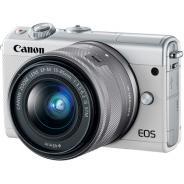 Фотоапарат Canon EOS M100 тяло + Обектив Canon EF-M 15-45mm f/3.5-6.3 IS STM White