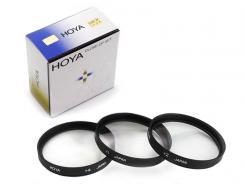 Комплект макро лещи Hoya +1, +2, +4D 72mm