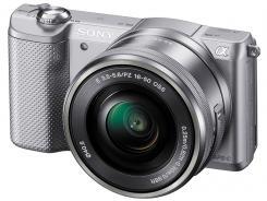 Фотоапарат Sony Alpha A5000 Silver Kit (16-50mm OSS)